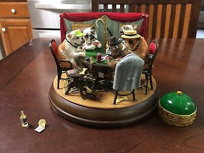 """Danbury Mint """"The Poker Playing Bulldogs, For Parts Or Fix Up   Figurine"""