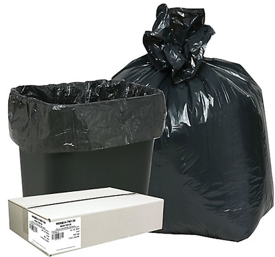 Webster Classic Low Density Trash Bags Liners 7-10 Gallon- 500 Bags Black