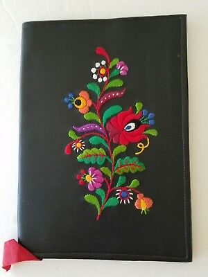 """NEW! Hungarian Hand-Embroidered Book Cover, 9"""" x 6.5"""""""
