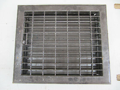 "Vintage Heavy Floor Heater Grate Grill Register 12"" x 10"""