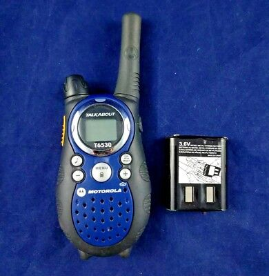 motorola talkabout t6530 10 mile 22 channel frs gmrs two way radio rh picclick com Instruction Manual Example Owner's Manual