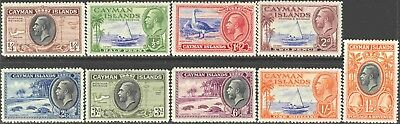 1935-6 Cayman Is. #85-93 Mint Hinged Short Set of 9 King George V Pictorials