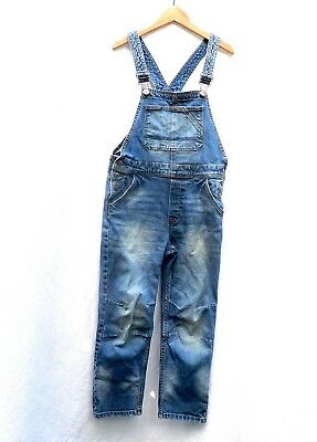 H&M Denim Overalls - Size 7-8 Years / 128 cm - Boys / Girls - Blue