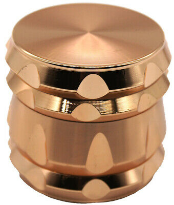"2.2""  55 mm  Rose Gold Color 4 Piece Grinder Herb Spice Crusher 161* USA SELLER*"