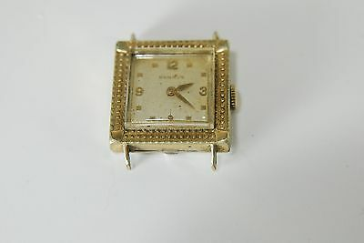 Vintage Antique 10K Rolled Gold Plate #434166 Benrus Watch Parts Or Repair Only