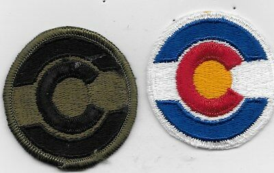 Two U.s. Army Colorado National Guard Patches