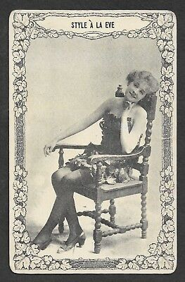 Vintage Postcard - Style A La Eve - Never Posted - Black and White