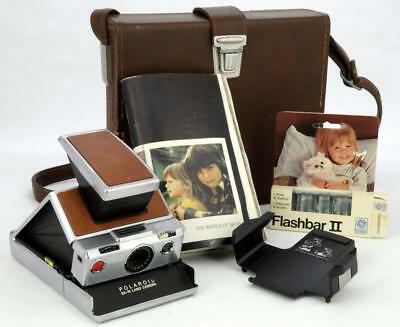 Polaroid Sx-70 Land Camera Model Original Chrome,tripod Mount 111 And  Case