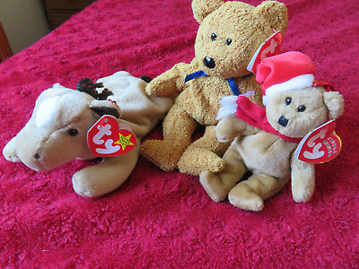 cccf8a7757e Ty Beanie Babies Fuzz Bear Derby Horse 1997 Ted With Tags - For Greyhound  Rescue