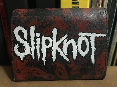 Slipknot Chain Wallet Trifold Red Black Official Music Heavy Metal Leather Band