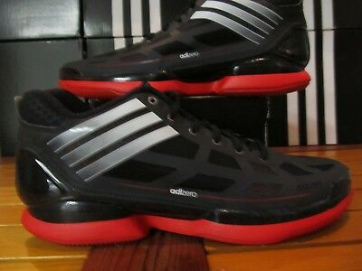 buy popular c222d 39670 NEW Adidas AdiZero Crazy Light Lo Black Red 13 G49697 Chicago Bulls d rose  pe 2