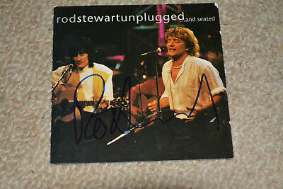 ROD STEWART signed Autogramm  In Person rar!! CD Cover