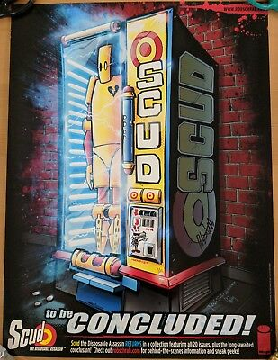 Scud The Disposable Assassin Large Poster Signed by Rob Schrab