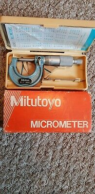 Mitutoyo micrometer imperial 0 - 1 inch