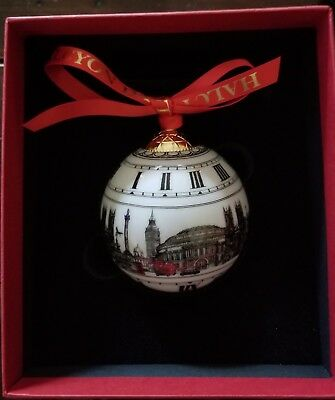 Halcyon Days Christmas Ornament London Big Ben New in box