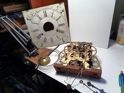 Antique-Forestville M.F.-OG-Weight Clock Movement/Parts-Ca.1850-To Restore-#P502