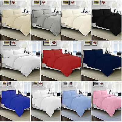 100% Egyptian Cotton Duvet Quilt Cover Single Double King S King Size Bedding