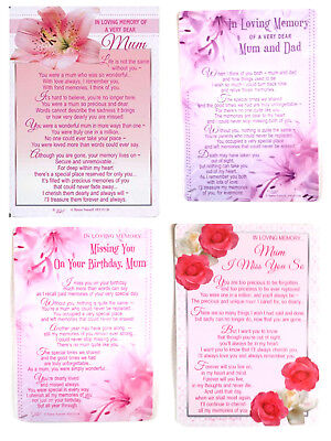 Family Friends Relations Graveside Loving Memory Miss You Grave Memorial Card
