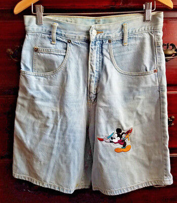 Vintage Mickey Unlimited by Jerry Leigh Women's Shorts Size M Light Blue Disney