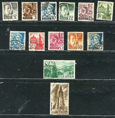 Germany >  89 Stamps From Post-Wwii French Occupation >
