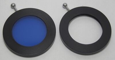 Two Nikon? Microscope 44mm Diameter Filter Holders for 30mm Filters 1x Blue