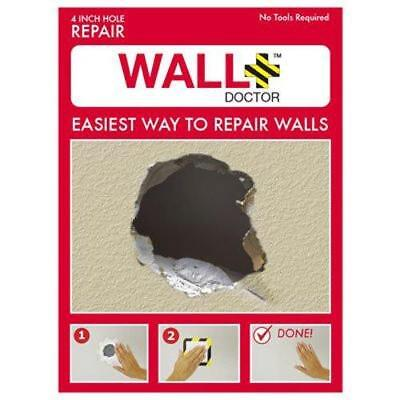 """Wall Doctor 857101004808Drywall Patch Kit - 4"""" x 4"""" (1 patch), 4 Inch"""