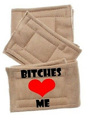 Pet Flys Peter Pads Bitches Love Me Belly Bands Beige 3 Pack