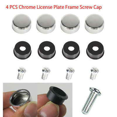 4 Smile Ball License Plate Frame BOLTS Happy Screws Caps for car//truck//suv//auto