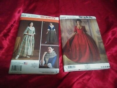 Simplicity McCalls pattern OUTLANDER SCOTTISH COSPLAY HISTORICAL 2 NEW 6-14