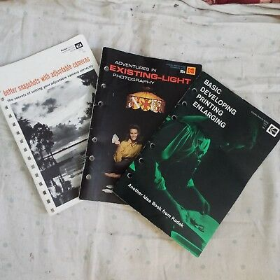 Lot of 3 vintage photography books 1970s
