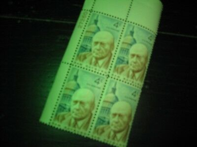 U.S. Postage Stamps Sam Rayburn Block of 4 Numbered 4 cent New