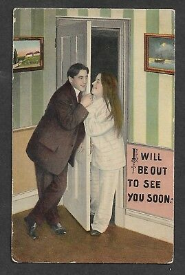Vintage Postcard - I Will Be Out to See You Soon - Posted 1912 Lees Summit, Mo
