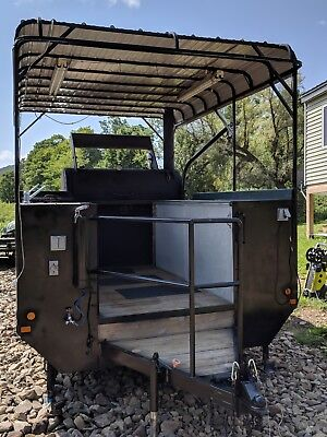 Concession  bbq smoker competition trailer