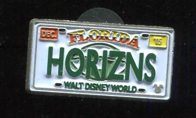 WDW Cast Lanyard Collection 4 License Plates HORIZNS Disney Pin 51140