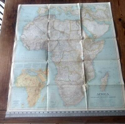 1935 National Geographic Vintage Wall Map Of Africa