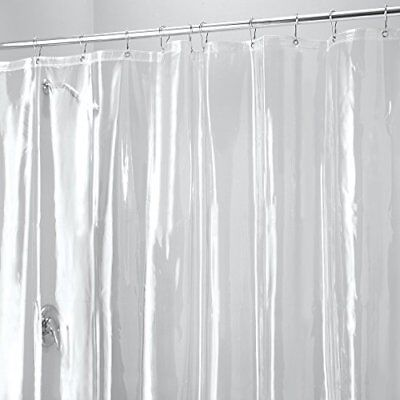 Mdesign Vinyl 10-gauge Shower Curtain Liner, Antibacterial, Mould And Mildew Fre