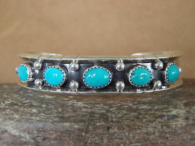 Navajo Indien Bijoux Argent Sterling Turquoise Rang Bracelet! Jerry Cow-Boy 5f9fe96cafe