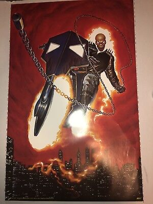 VINTAGE (GHOST RIDER ) Poster 22 X 34 1993 VERY GOOD CONDITION Marvel Comic