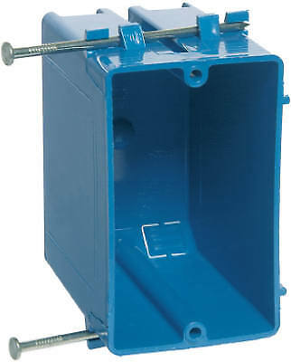 Switch & Outlet Box, Deep Blue, 3-7/8 x 2-1/4 x 3-1/4-In.