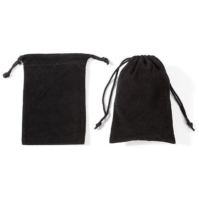 10~50x New Black Gift Bag Velvet Cloth Jewelry Pouch Drawstring Wedding Favors