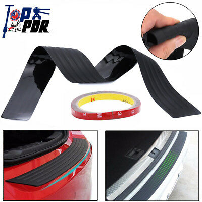 40in Rear Guard Bumper Protector Trim Cover Sill Trunk Scuff Plate Rubber Black