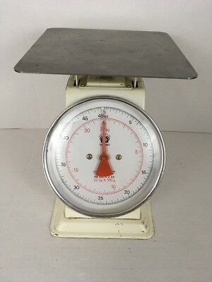 Vintage Johnson-Rose Household Kitchen Scale 48 lbs , White Good Condition