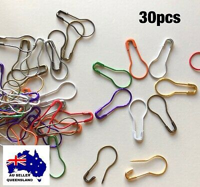 STITCH MARKERS x30, Stainless Steel, Hangtag, Pin, DIY, Clip, Knitting,Crochet,