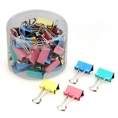 Metal Binder Clips Folder Notes Letter Paper Clip Clamp Office Supplies Colorful