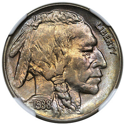 1938-D/S Buffalo Nickel, NGC MS64, nicely toned