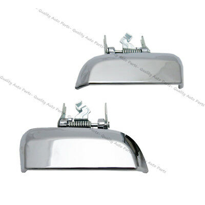 REAR LEFT RIGHT DOOR HANDLE Silver Chrome For NISSAN PATHFINDER R51 OUTER