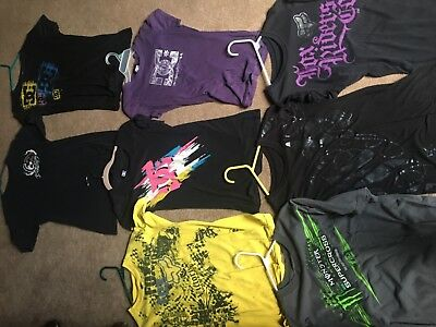 Lot of 8 Fox and DC T-Shirts Sizes Vary Colors Vary