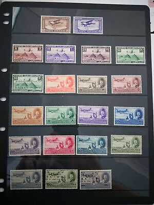 EGYPT 1926, 1941, 1946 & 1947 Airmail Mint Sets Mostly MH inc. Overprints
