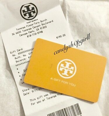 Tory Burch 50 Gift Card Birthday Gift In Outlet And Fullprice Store
