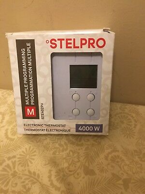 Stelpro STE402P+ Thermostat, Digital Programmable , ELECTRONIC THERMOSTAT